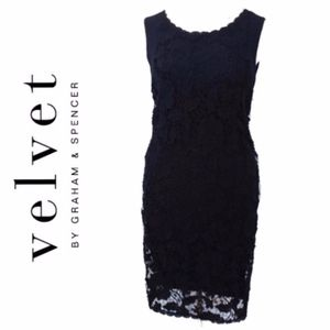 Velvet by Graham&Spencer Black Cocktail Dress A009